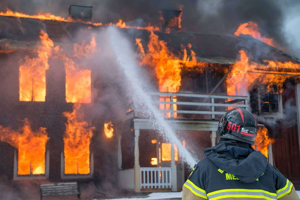house on fire for smoke alarm installation in sydney